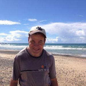 Adam on Cabin's Beach